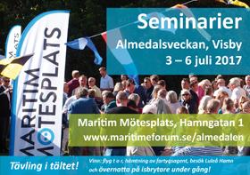 Ministrar x 3 på Maritima Mötesplatsen i Almedalen 2017